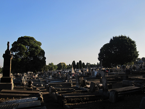 Roman Catholic section at north of Melbourne General Cemetery 52/12/1
