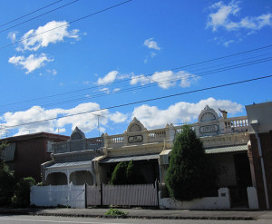Clouds, cottages, Collingwood 52/18/1 by Collingwood Historical Society