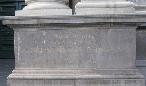 Foundation stone at Collingwood Town Hall 52/24/1