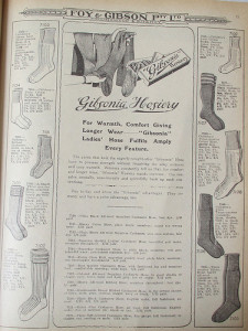 Ladies' & children's hosiery 52/1/2 by Collingwood Historical Society