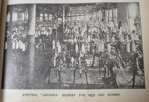 #blog12daysxmas Day 10 1923 Gibsonia hosiery factory 52/1/1