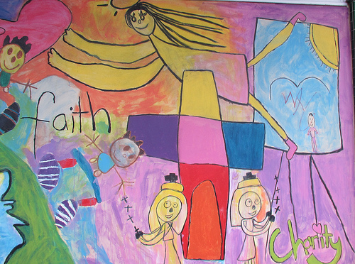 Faith and charity mural #blogjune Day 3