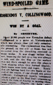 Wind-spoiled game at Vic Park 52/24/3 #fp13 #wind by Collingwood Historical Society