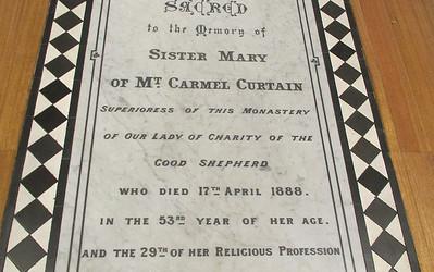 Sr Mary of Mt Carmel Curtain #blogjune Day 29
