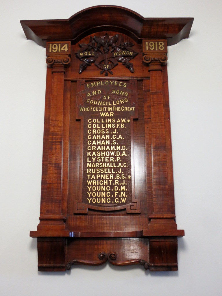 Honour Roll - Collingwood Town Hall